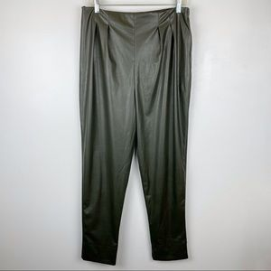 ASOS Design Faux Leather Pleated Pants Size 10